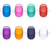 Assorted charm glass beads — 图库矢量图片