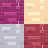 Set of brick wall seamless pattern — Stock Vector