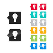 Light bulb, attention icon — Stockvector