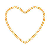 Thin golden chain — Stock Vector
