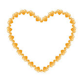 Golden chain shaped in heart form — Stock Vector