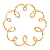 Flower curled golden chain background — Stock Vector