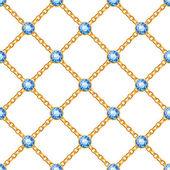 黄金の鎖とのシームレスなパターン — ストックベクタ