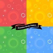 Set of colorful seamless rings — Stock Vector