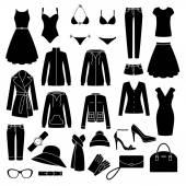 Set of women's clothes — Stock Vector