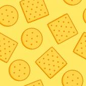 Crispy Crackers seamless texture — Stock Vector
