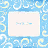 Swirls colorful vintage background — Vettoriale Stock
