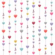 Seamless hanging hearts and stars — Stock Vector #51983393
