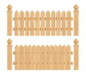 Wooden fence with columns — Stock Vector
