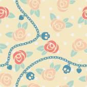 Nahtlose Muster mit Rosen — Stockvektor