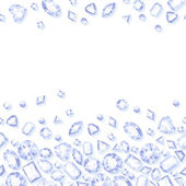 White jewels seamless horizontal background — Stock Vector