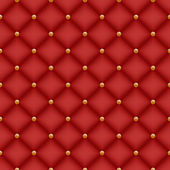 Seamless red velvet quilted background — Stock Vector
