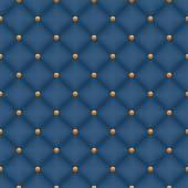 Seamless blue velvet quilted background — Stock Vector