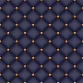 Seamless black velvet quilted background — Stock Vector
