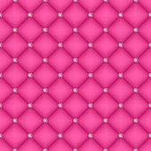 Seamless pink silk quilted background — Stock Vector