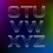 ガラスのアルファベット — ストックベクタ