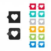 Favorite heart icon — Stock Vector