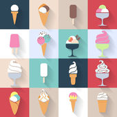 Ice cream icons set — Stockvektor