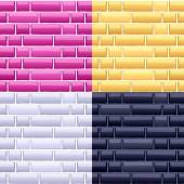 Glossy brick wall seamless texture — Stock Vector