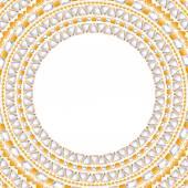 Jewelry round frame with gemstones — Stock Vector