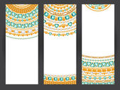 Set of vertical jewelry banners — Stock Vector
