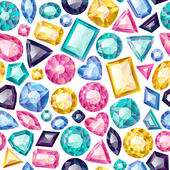 Seamless colorful gemstones background — Stock Vector