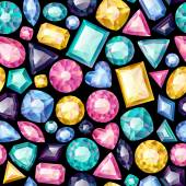 Seamless colorful gemstones background — Wektor stockowy