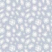 Seamless pattern of jewels — Stock Vector