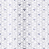 Seamless silver pattern with hearts — Stock Vector