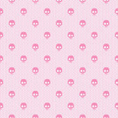 Seamless pink pattern with skulls — Stock Vector