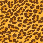 Leopard fur seamless scribble pattern — Stock Vector