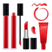 Make-up set for lips — Stock Vector