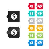 Dollar sign icon — Stock Vector