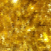 Golden glitter mosaic faceted background — Stock Vector