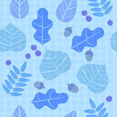 Fall leaves seamless pattern — Stock Vector
