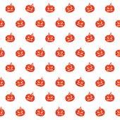 万圣节橙色南瓜无缝模式 — 图库矢量图片