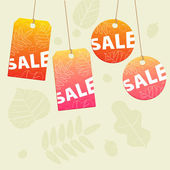 Sale tags for fall design — Stock Vector