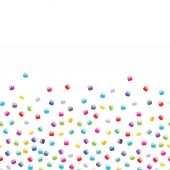 Seed bead seamless horizontal background — Stock Vector
