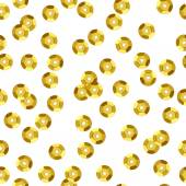 Golden sequins seamless pattern — Stock Vector
