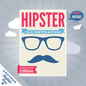 Funny hipster magazine cover — Stock Vector