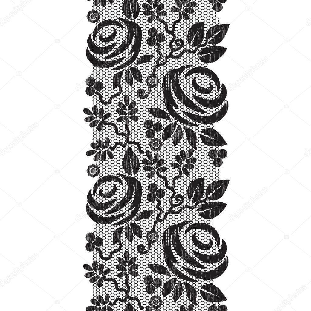 黑色蕾丝纹理 — 图库矢量图像08