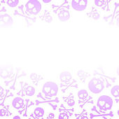 Seamless faded pink skulls background — Stock Vector