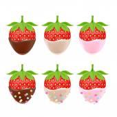 Vector illustration of strawberries — Stock Vector