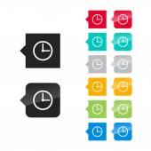 Icono de la cara del reloj — Vector de stock