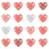 Seamless scribbled heart background — Stock Vector