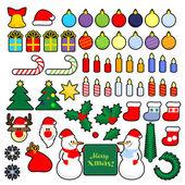 Noel simge kümesi — Stok Vektör