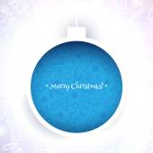 Blue Patterned Christmas ball — Stock Vector