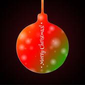 Bokeh Christmas ball — Stock Vector