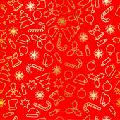 Seamless golden foil Christmas pattern — Stock Vector