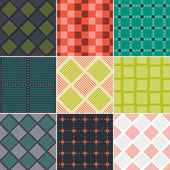 Set of colorful abstract square quilted patterns. — ストックベクタ